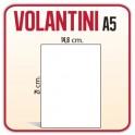 7.500 Volantini A5 14,8x21 cm