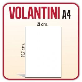 2.500 Volantini A4 21x29,7 cm