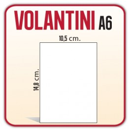 20.000 Volantini A6 10,5x14,8 cm