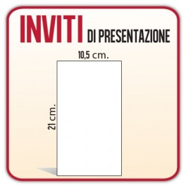 1.250 Inviti / Presentazioni 1,5x21 cm