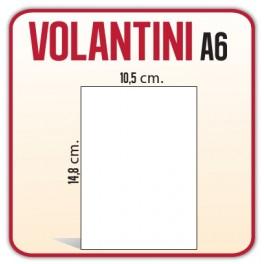 7.500 Volantini A6 10,5x14,8 cm