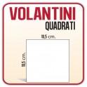 1.250 Volantini Quadrato S 10,5x10,5 cm