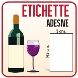 500 Etichette Adesive Carta 5 x 14,8 cm