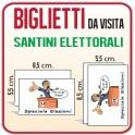 Santini Elettorali 8,5x5,5 cm.