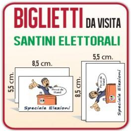10.000 Santini Elettorali 8,5x5,5 cm.