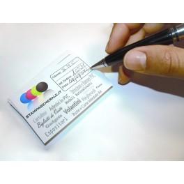 Biglietti Adesivi 8,5x5,5 cm su Carta Patinata - Bigliettini da Visita