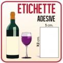 50 Etichette Adesive Carta 5 x 14,8 cm