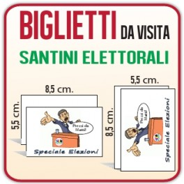5.000 Santini Elettorali 8,5x5,5 cm.