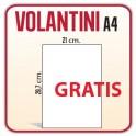 25 Volantini A4 21x29,7 cm - GRATIS