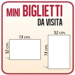 500 Mini Biglietti da Visita 7,4x5,2 cm