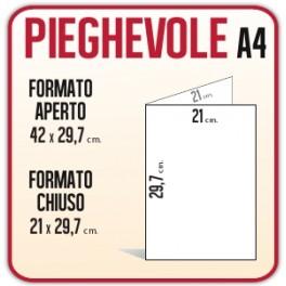 500 pieghevoli a4 stampa pieghevole depliant piega a metà stampa a