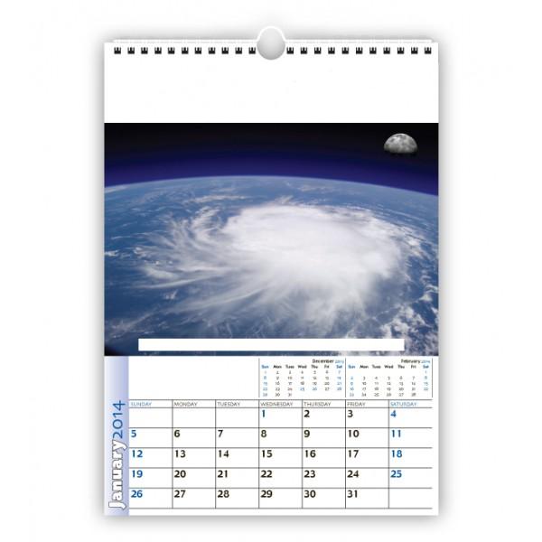 Calendario Parete.Stampa 10 Calendari Da Parete O Muro A4 Con Aspirale