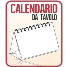 10 Calendari da Scrivania A5 quadrato 14,8x14,8 cm.