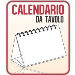 50 Calendari da Scrivania A5 quadrato 14,8x14,8 cm.