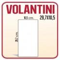 500 Volantini 10,5x29,7 cm.