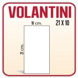 10.000 Inviti/Volantini 10x21 cm.