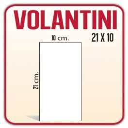 1.000 Inviti/Volantini 10x21 cm.