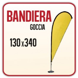 Bandiera a Goccia 130x340 cm