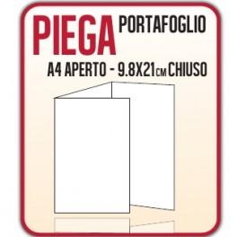 1000 Pieghevoli o Brochure 9.8x21cm.