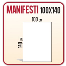 100 Manifesti 100x140 cm