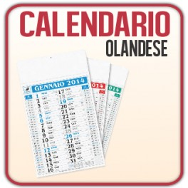 100 Calendari Olandesi Gigante da Muro - f.to 31x53,5 cm