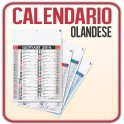 100 Calendari Olandesi da Muro Medio - f.to 29x42,5 cm