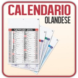 100 Calendari Olandesi Medio da Muro - f.to 29x42,5 cm