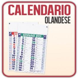 100 Calendari Olandesi da Muro - f.to 29x47 cm