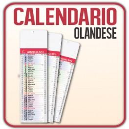 100 Calendari Olandesi Silhouette da muro - f.to 15,5x53,5 cm