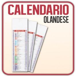 100 Calendari Olandesi Silhouette Multicolor da muro - f.to 14,3x47,5 cm