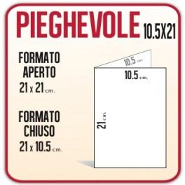 10.000 Pieghevoli 10.5x21cm.