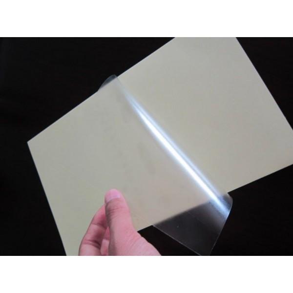 50 fogli carta auto adesiva pvc vinile a4 per stampanti laser - Foglio laminato bianco ...