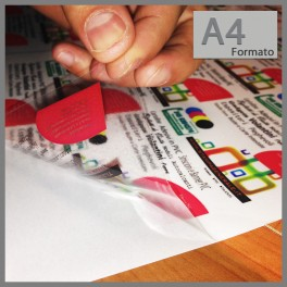 10 Fogli Carta Auto Adesiva Adesivi polipropilene HD A4 per Stampanti LASER