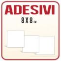 Etichette Adesive in carta, stampa a colori, misura 8x8cm.