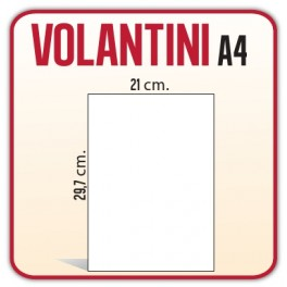 5.000 Volantini A4 21x29,7 cm