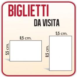 500 Biglietti da Visita 8,5x5,5 cm